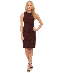 Anne Klein  - Jacquard Roll Neck Sleeveless Dress