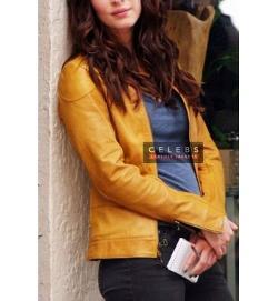 Celebs Leather Jackets - Teenage Mutant Ninja Turtles Megan Fox (April O
