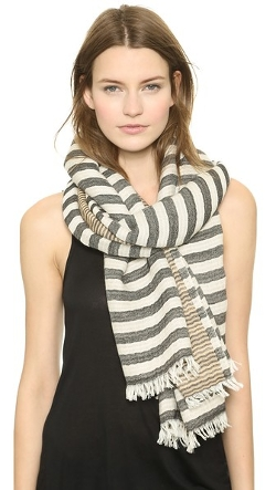 Tory Burch - Tory Striped Scarf