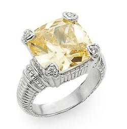 Judith Ripka - Fontaine Canary Crystal Ring