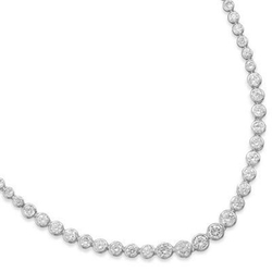 AzureBella Jewelry - Cubic Zirconia Stones Necklace