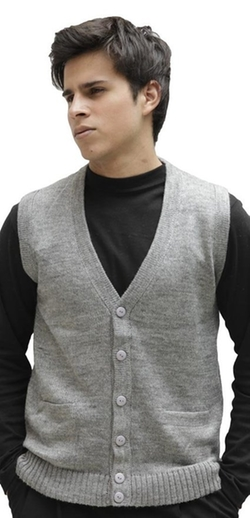 Alpaca Warehouse - Soft Alpaca Wool Knitted V-Neck Sweater Vest