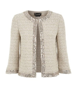 St. John - Beaded Trim Tweed Jacket
