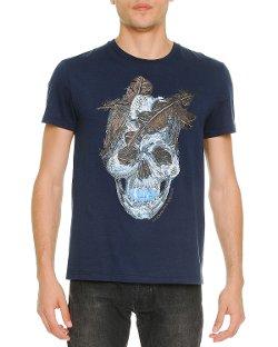 Alexander McQueen - Feather-Skull-Print Tee