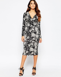 Club L  - Wrap Front Midi Dress