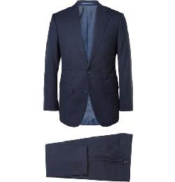 Thom Sweeney  - Navy Weighouse Wool Suit