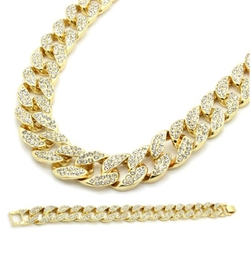 L & L Nation  - Fully Iced Out Hip Hop Cz Chain Necklace
