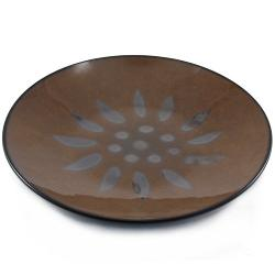 BigKitchen - Ambiance Sunburst Brown Ceramic Salad Plate