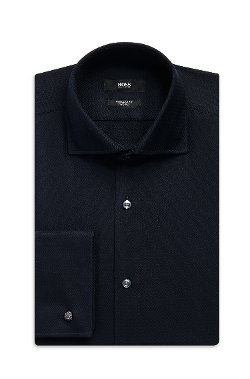 Boss - Tonal Print French Cuff Dress Shirt