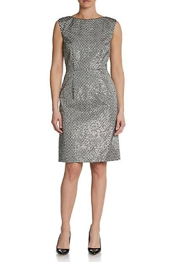 Marc Jacobs  - Embellished Silk Fishnet Dress