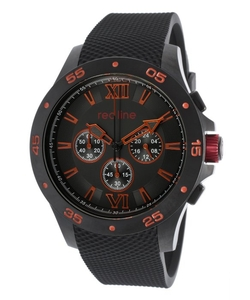 Red Line  - Spark Chrono Black Rubber and Dial Watch