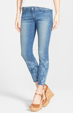 Michael Kors -  Print Slouchy Ankle Skinny Jeans