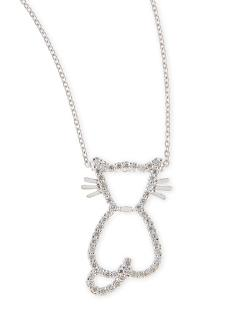 Roberto Coin - Pave Diamond Cat Pendant Necklace