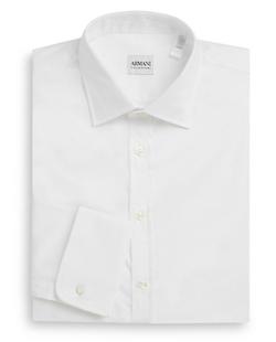 Armani Collezioni  - Modern-Fit Cotton Dress Shirt