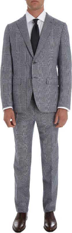 UMAN  - Plaid Two-Piece Suit