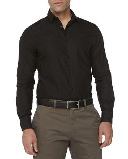 Versace  - Trend-Fit Jacquard Sport Shirt