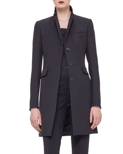 Akris Punto   - Woven Fitted Button Coat