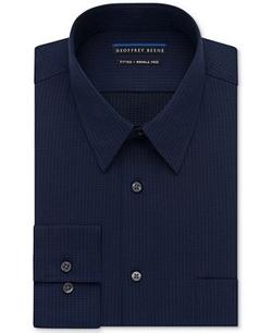 Geoffrey Beene  - Textured Sateen Solid Dress Shirt