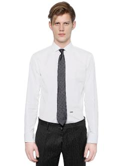 DSQUARED - Michael Buble Cotton Poplin Shirt