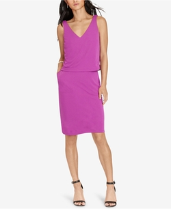 Lauren Ralph Lauren  - Layered Jersey V-Back Dress
