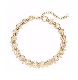 Dannijo - Capote Swarovski Crystal & Goldplated Necklace