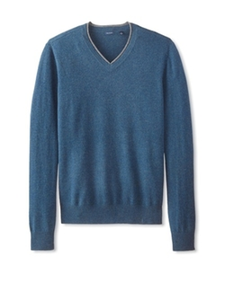 Thirty Five Kent - Cashmere Rolled Edge V-Neck