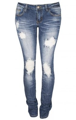 Machine Jeans  - Skinny Ripped Destroyed Jeans