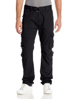 Southpole  - Twill Washed Long Cargo Pants with Matching Belt and Pockets