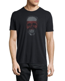John Varvatos - Skull-Graphic Short-Sleeve Jersey Tee Shirt