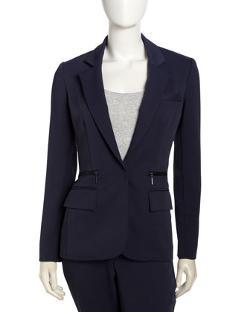 Nanette Lepore  - Superstar Zip-Pocket Blazer