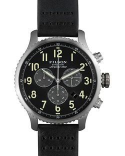 Filson  - Chronograph Leather Strap Watch