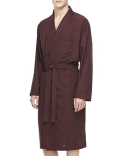 Neiman Marcus - Plaid Cotton Robe