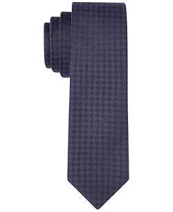 Hugo Boss  - Navy Textured Solid Slim Tie