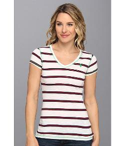 U.S. Polo Assn.  - Striped V-Neck Slub Tee