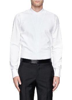 Alexander McQueen - Bonded Piqué Front Tuxedo Shirt