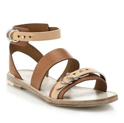 Rag & Bone  - Lara Flat Leather Sandals