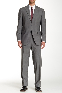 Peter Millar  - Sharskin Two Button Notch Lapel Wool Suit