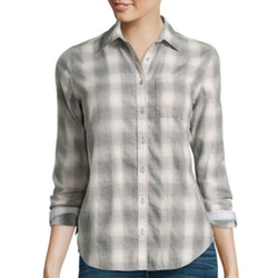 Stylus - Long-Sleeve Brushed Twill Plaid Shirt