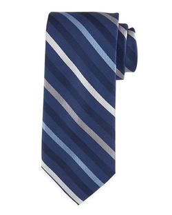 Neiman Marcus   - Track-Stripe Silk Tie