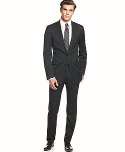 Calvin Klein  - Solid Wool Slim Fit Suit