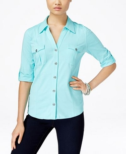 Style & Co.  - Roll-Tab Shirt