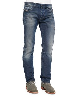 Diesel	  - Safado Foam Wash Straight-Leg Denim Jeans
