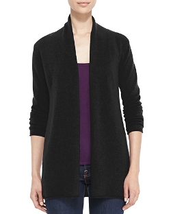 Neiman Marcus  - Draped Open-Front Cashmere Cardigan