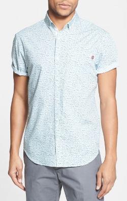 Original Penguin  - Short Sleeve Floral Print Shirt