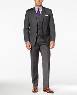 Lauren Ralph Lauren  - Charcoal Pinstripe Vested Suit