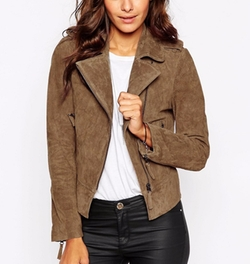 Asos - Oil Wash Suede Biker Jacket