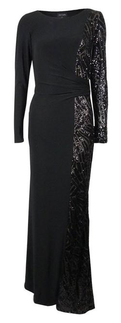 Axelusa - Sequined Mesh Full Length Dress