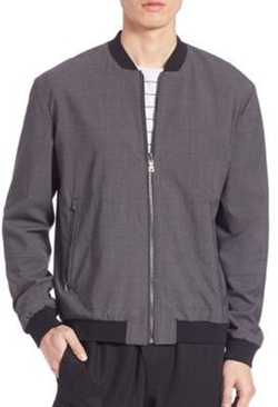 Vince - Worsted Wool Reversible Bomber Jacket
