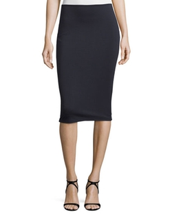 T by Alexander Wang - High Lux Ponte Midi Skirt