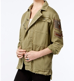 Free People  - Embellished Military Jacket